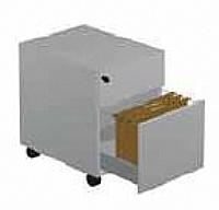 Mobilier EHPAD - Caisson mobile 1 tiroir+1DS sur roulettes en métal-Caisson-mobile-2-tiroirs-sur-roulettes-en-metal_1.JPG