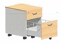 Mobilier EHPAD - Caisson mobile 2 tiroirs-quadrifoglio.caisson2tiroirs.jpg