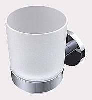 Mobilier EHPAD - Porte gobelet chromé gobelet en verre dépoli-DIVERS-ACCASTIL-Porte-gobelet-chrome-gobelet-en-verre-depoli_1_20170531150106.JPG