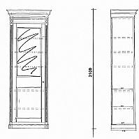 Mobilier EHPAD - Bonnetière CHEVERNY 1 porte vitrée-MEUBLE-MH-Bonnetiere-CHEVERNY-1-porte-vitree_1_20180314110144.JPG