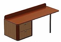 Mobilier EHPAD - Commode bureau gauche ONYX 2 tiroirs sur mesure-commode-bureau-Onyx-suspendue-sur-mesure-gauche.jpg