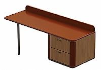 Mobilier EHPAD - Commode bureau droite ONYX 2  tiroirs sur mesure-commode-bureau-Onyx-suspendue-sur-mesure-droite.jpg