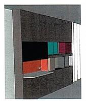 Mobilier EHPAD - Panneau mural avec 2 étagères-_Z9074.JPG