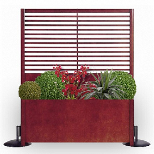 Bac pour claustra l 127 h 153 cm simple meuble d 39 appoint - Jardiniere avec claustra ...