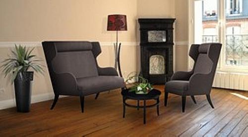 canap 2 places logan bois haut dossier a2c droit assise fauteuil canap pouf cabrio ref. Black Bedroom Furniture Sets. Home Design Ideas