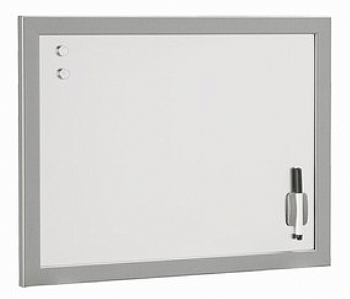 tableau fond blanc veleda et magn tique avec cadre bureau accessoires de bureau ref z7798. Black Bedroom Furniture Sets. Home Design Ideas