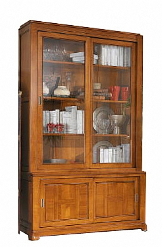 biblioth que artdeco vitr e bois meuble d 39 appoint bibliotheque ref z9628 mobiliers. Black Bedroom Furniture Sets. Home Design Ideas