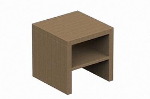 Chevet contemporain 1 niche - mobilier de chambre | chevet (ref:_ ...
