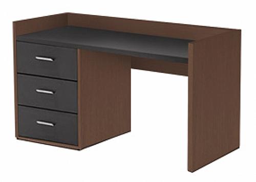 commode bureau gauche 3 tiroirs valentine mobilier de chambre commode bureau ref z8838. Black Bedroom Furniture Sets. Home Design Ideas