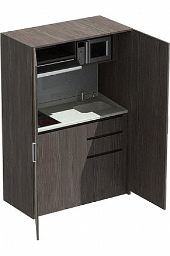 Armoire kitchenette quip e sienne meuble d 39 appoint for Meuble kitchenette