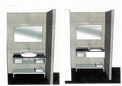 Meuble sous plan salle de bain meuble d 39 appoint salle - Salle de bain maison de retraite ...