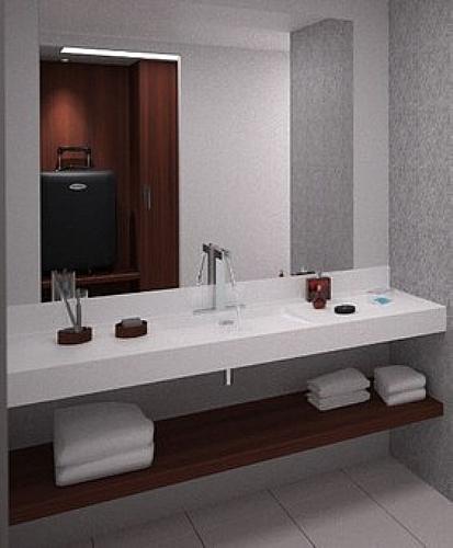 Plan Vasque De Salle De Bain Miroir Etagere Meuble D