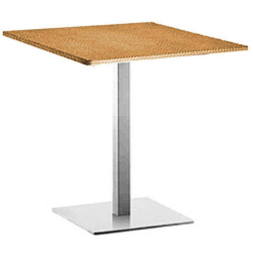 Inox is pr 90x90 table pied ref inox is 5x5 for Table 90x90 design