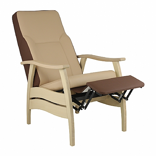 Mobilier EHPAD - assise / fauteuil, canapé, pouf, cabrio - Fauteuil AKIM repos inclinable relève jambe