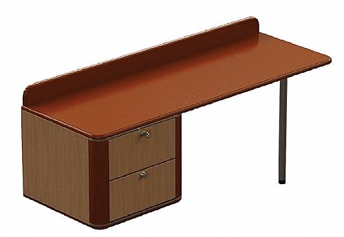 commode bureau gauche onyx 2 tiroirs sur mesure mobilier de chambre commode bureau ref. Black Bedroom Furniture Sets. Home Design Ideas